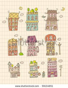 stock vector : hand draw house