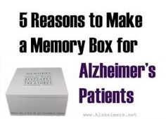 For seniors with Alzheimer's, a memory box helps recall people and events from the past. These memories, thought to be lost, can stimulate the senior emotionally and prompt conversation with loved ones.