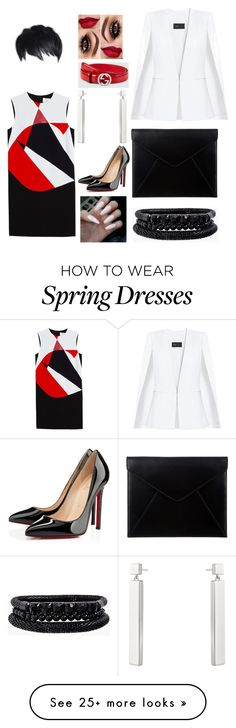 """Style Etiquette"" by demetriusbolston on Polyvore featuring Victoria, Victoria Beckham, Christian Louboutin, Gucci, Georg Jensen, BCBGMAXAZRIA, The Mode Collective and Spring Street"