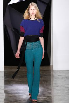 Ohne Titel Fall 2015 collection | I pretty much adore this pant from Ohne Titel; some 70's inspiration and a cool knit-in waistband...so cool with a black high-heeled boot! |#FindYourCool | Art . Style . Life