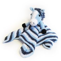 Horse Lovey - CROCHET PATTERN - blankey, blankie, security blanket. NB I have made this! It is so cute, and the pattern is easy to follow.