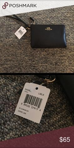 Coach wristlet Brand new with tags. Black. Coach Bags Clutches & Wristlets