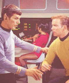 the one and only Kirk & Spock