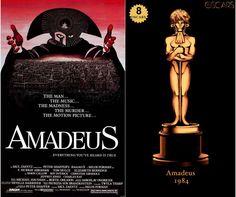 1984 Amadeus, ganadora del Oscar a Mejor Película y diseño de la estatuilla por el dibujante Olly Moss