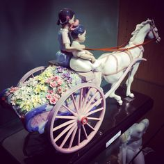 Flower Wagon by Lladro Available at Little Europe Jewellers Worldwide shipping  Email lej@littleeurope.com