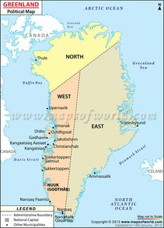 Map of greenlandndre stromfjord was sondrestrom air base when i political map of greenland illustrates the surrounding countries with international borders 4 municipalities boundaries with their capitals and the gumiabroncs Choice Image