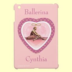 Pink Ballerina Dancer Personalized iPad Mini Case! Add your name to personalize it too! Great gift for ballerina! #Ballet #Ballerina #iPadMiniCase