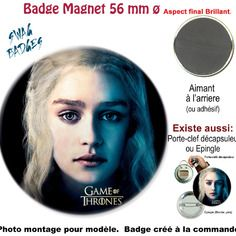Badge ø 56 mm.game of thrones. magnet,adhesif,pin's, button
