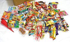 "Assorted Japanese Junk Food Snack ""Dagashi"" Boxful of 95 Packs of 55 Types Dagashi http://www.amazon.com/dp/B00V9ZHMD8/ref=cm_sw_r_pi_dp_WfGCvb0FSMVWX"