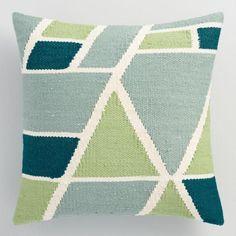 Cool Geometric Indoor Outdoor Throw Pillow - v1