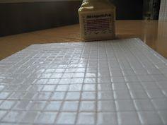 Lulabyminihouse: De como hice las baldosas./ How I made the tiles.