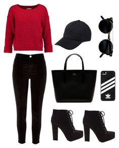 """Sweet red detail"" by kayleedool on Polyvore featuring mode, Rebecca Minkoff, River Island, Lacoste, Y-3 en adidas"