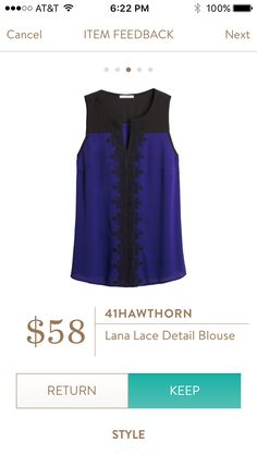 Stitch Fix - 41 Hawthorn Lana Lace Detail Blouse