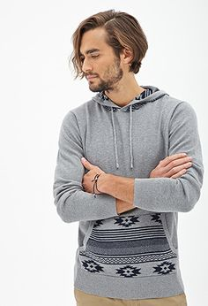 Southwestern-Patterned Pullover Hoodie