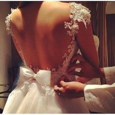 backless wedding dresses withe little lace,lace wedding dress