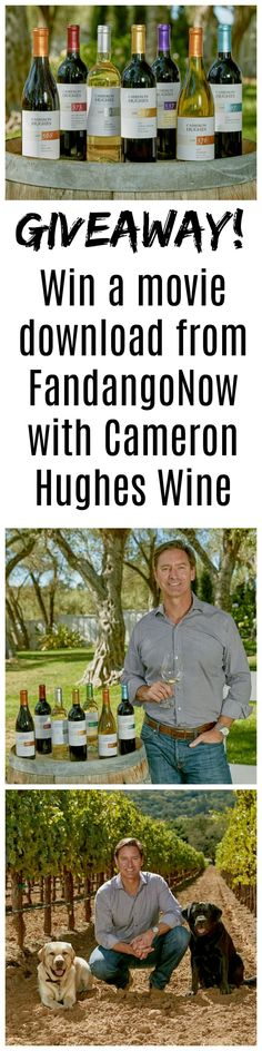 Win a chance at a free movie download from FandangoNow, offered by Cameron Hughes Wine. Fandango and chill, anyone? (Contest ends Jan. 2, 2018.)