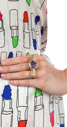 Crystal cruise ring available only at Pernia's Pop-Up Shop.