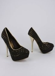 luv the black with a hint of gold fish scale pattern