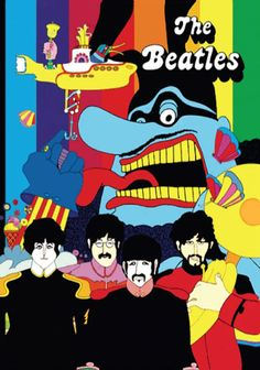 Beatles Yellow Submarine Cross Stitch PatternLOOK