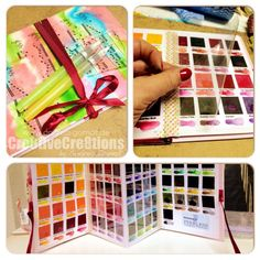 Peerless Watercolors - Creating your own Pallette-Book 2 go by altering a Photo-Leporello-Album ... by Andrea Gomoll