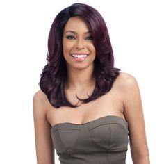Model Model Deep Invisible 3 Way Part Lace Wig - Breezy