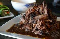 Slow Cooker Mocha-Rubbed Pot Roast is dusted with a delicious spice mixture, then cooked slowly so it's fall-apart tender.