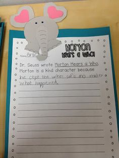 Horton Hears a Who - writing activity