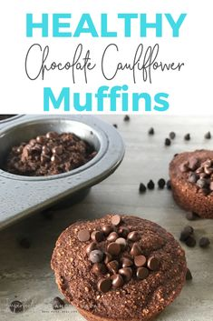 My healthy chocolate cauliflower muffins are healthy, delicious, and make you feel like you are eating an indulgent treat. Not only do they contain a hidden veggie (CAULIFLOWER!), but they are also sweetened with a natural sweetener (MAPLE SYRUP). They are even kid approved.