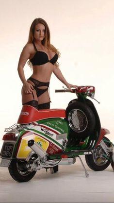 I want them for my birthday - - Piaggio Vespa, Lambretta Scooter, Vespa Scooters, Vespa Girl, Scooter Girl, Biker Chick, Biker Girl, Italian Scooter, Chicks On Bikes