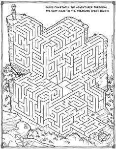 212 best Coloring: Mazes & Puzzles images on Pinterest | Christmas ...