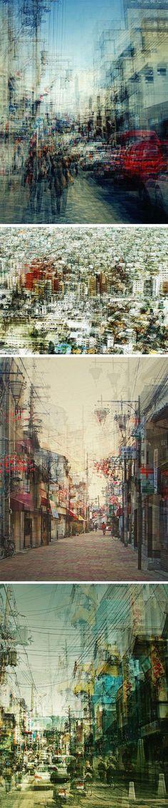 Photos aux expositions multiples Photographe allemande, Stephanie Jung, travaille les paysages urbains d'un point de vue très personnel. Sa série Japan met en lumière la technique de multi-exposition, offrant un rendu impressionnant et presque irréel. Tokyo, Osaka, Shibuya, Nara ont été capturés par son objectif, une représentation poétique et picturale du Japon.