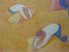 BERNARD Emile,1891 - Moisson au Bord de la Mer - Detail 09 -   « Faire une peinture d'idées au rebours de la peinture naturaliste des impressionnistes, non par contradiction, mais par besoin de mon esprit… Comment représenter les choses ? ma réponse me parut simple. Puisque l'idée est la forme des choses recueillies par l'imagination, il fallait peindre, non plus devant la chose mais en la reprenant dans l'imagination qui l'avait recueillie, qui en conservait l'idée. » (Emile Bernard)
