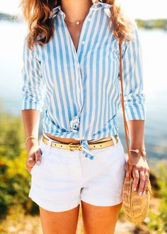 Cabana Shirt and white shorts