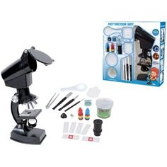 Amazon.com: YBB Student Beginner Microscope With LED,300X/600X/1200X Magnification,Includes Accessory Set and Box: Toys & Games