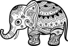 Cute baby elephant tribal