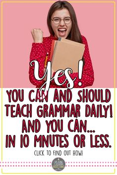 This daily grammar program is what the teacher ordered for a daily routine and improving students' understanding and application of key grammar skills. With this resource, you are getting a NO PREP activity for EVERY day of the week ALL YEAR LONG: this program covers a wide range of grammar concepts complete with daily bell ringers, worksheets, quizzes, teacher's guides, and more! You will need nothing else to get your grammar program up and running! Grammar Practice, Grammar Skills, Grammar And Punctuation, Teaching Grammar, High School Writing, High School Classroom, English Classroom, High School Students, High School English
