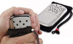 Fluid-Refillable Platinum Pocket Handwarmer. Kind of cool.