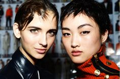 Cool graphic liner at Rag & Bone's F/W 15 show