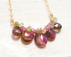 Hey, I found this really awesome Etsy listing at https://www.etsy.com/ca/listing/237487187/watermelon-tourmaline-necklace-pink
