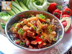 Kung Pao Chicken, Pork, Cooking, Ethnic Recipes, Sweet, Kale Stir Fry, Kitchen, Candy, Pork Chops