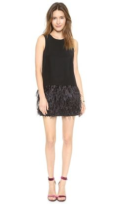 feather hair styles layers form fitting velvet tank dress with square neckline 2333