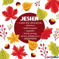 Jesień - karty pracy, domino, szablony i wiele więcej - Pani Monia