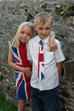 Union Jack shift dress and tie made for Royal Wedding celebrations at school :)