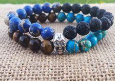 Check out this item in my Etsy shop https://www.etsy.com/uk/listing/290063679/tribal-men-bracelet-gemstones-men-skull