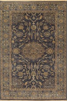 These beautiful collection features new interpretations of beautiful Peshawar rugs. Hand-knotted in India of 100% wool, each rug is luster washed giving these pieces a truly antique feel.