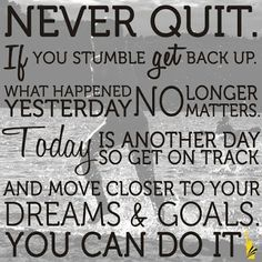 Never Quit!!! And if you would LOVE to be on an INCREDIBLE (private) Facebook Page for weight loss support...then join us on the Saba 60 Program. You will LOVE the NEW Saba ACE G2 Appetite Control & Energy supplements and everything about this AWESOME Program!  Will YOU be our next $2,500 WINNER? Click this pic for more info or call me with questions. Terri McClellan 713.882.5869 Authorized Saba Distributor #weightlosssupport #dontquit #saba60program
