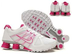 new style 23105 b7bc0 Women s Nike Shox Agent - White Pink This website has nike tennis shoes for  price!