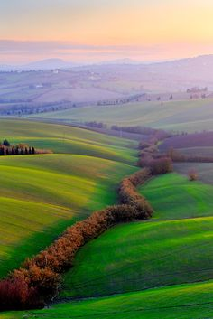 ~~glimmers of light in the Marches ~ rolling hills, Central Italy by Maurizio  Caporaletti~~