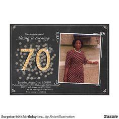 Customisable Invitation made by Zazzle Invitations. 70th Birthday Invitations, 70th Birthday Parties, Photo Invitations, Special Birthday, Zazzle Invitations, Birthday Woman, Create Your Own Invitations, Birthday Photos, Holiday Photos