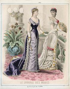 Casey Fashion Plates Detail | Los Angeles Public Library Le Journal des Modes Thursday, January 1, 1880